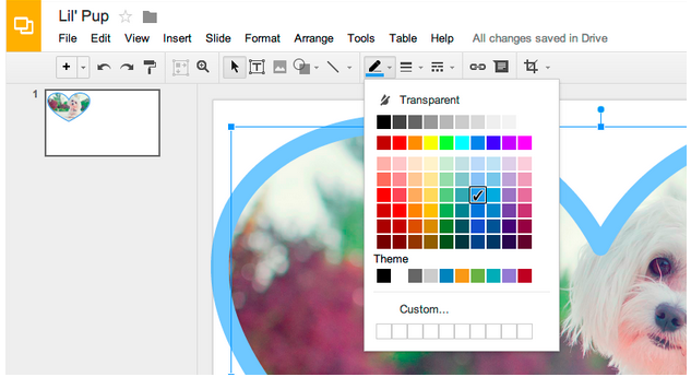 google slides now allows you to edit, crop,and add borders to, Presentation templates