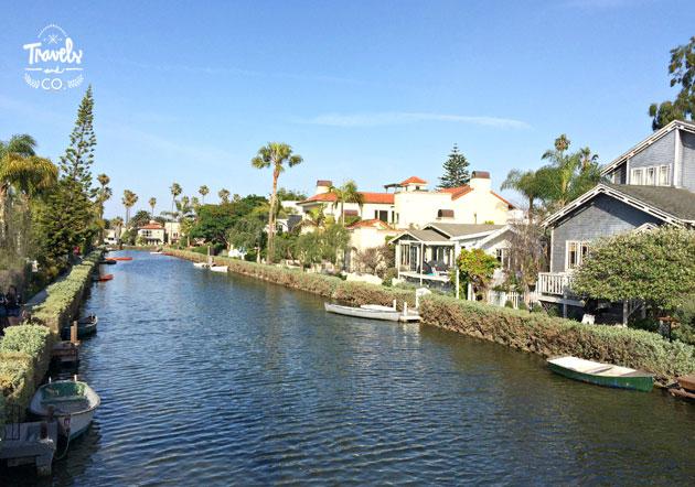 Ruta en coche por la costa oeste de Estados Unidos casas Venice Beach