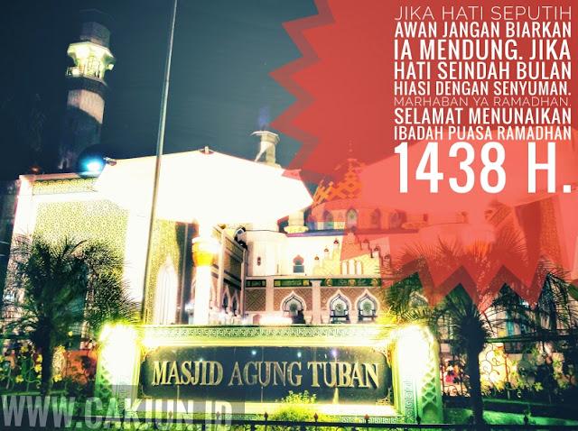 Berkah Dan Ampunan : Selamat Menunaikan Ibadah Puasa Ramadhan 1438 H