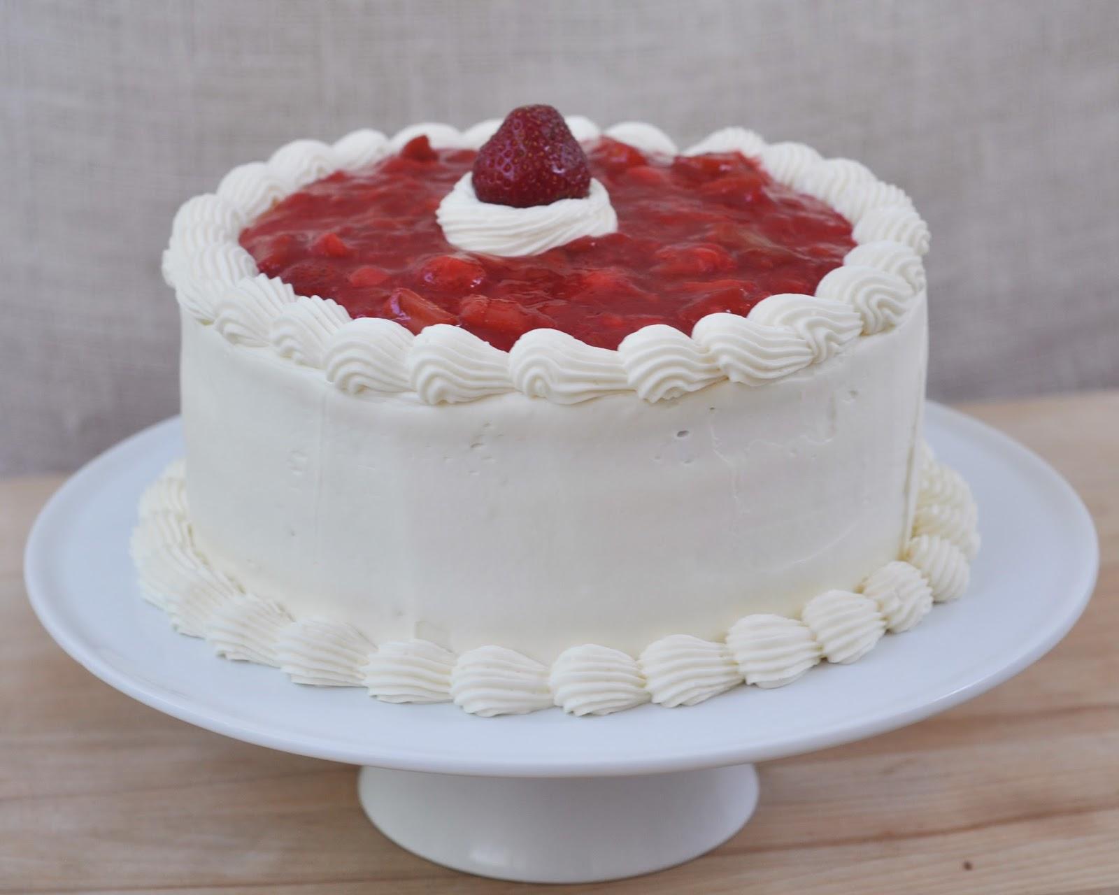 Beki Cooks Cake Blog Strawberry Rhubarb Cream Cake Recipe