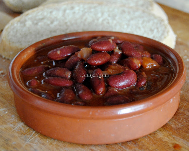Alubias Rojas con sofrito de cebolla y pimentón rojo a la Montañesa