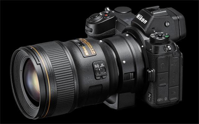 Nikon Z7 dengan lensa DSLR dan Mount Adapter FTZ