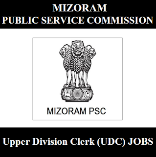 Mizoram Public Service Commission, Mizoram PSC, UDC, Clerk, Upper Division Clerk, Mizoram, Graduation, freejobalert, Sarkari Naukri, Latest Jobs, mizoram psc logo