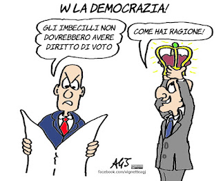 brexit. referendum, democrazia, imbecilli, suffragio universale, vignetta, satira