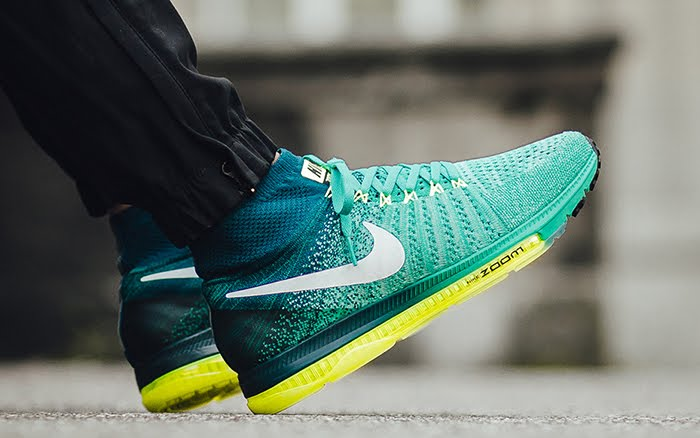 d41b60f6a3c free shipping nike zoom all out flyknit clear jade 844134 313 cc4fc ac727