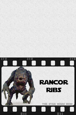 Free printable Star Wars Food Label Rancor Ribs