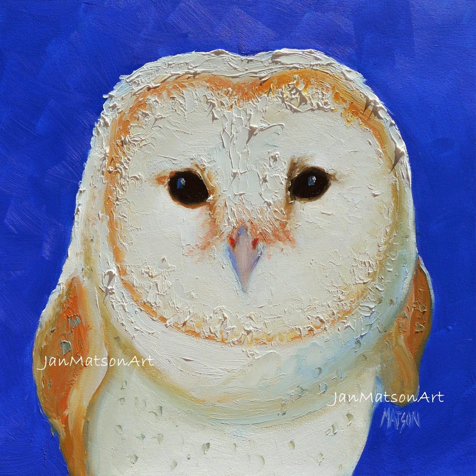 jan matson etsy art owl painting on etsy art