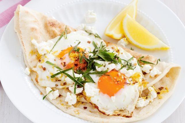 Dukkah And Feta Fried Eggs Recipe