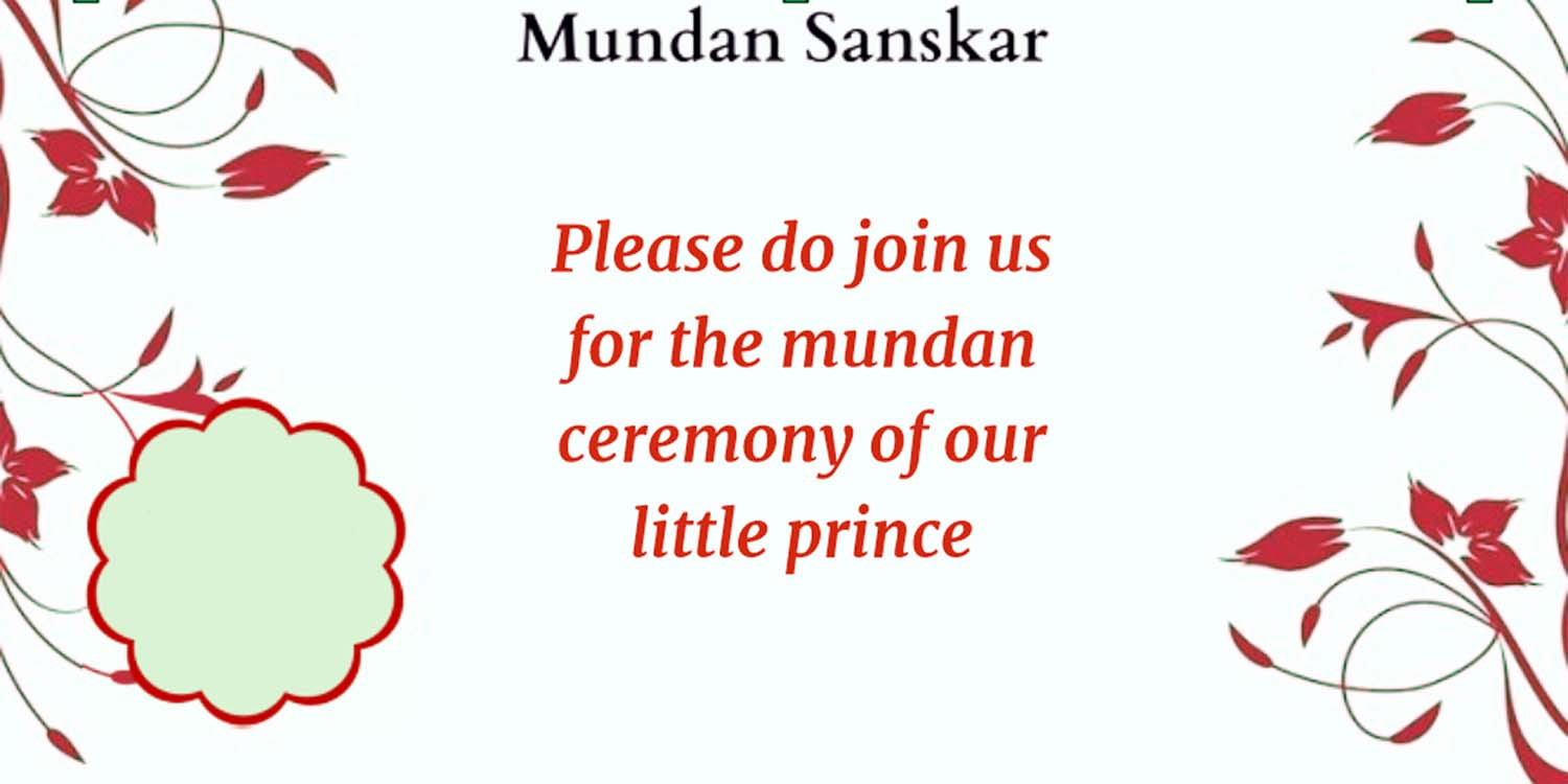 mundan ceremony invitation quotes