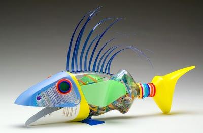 Reciclando con Botes de Plasticos
