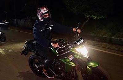 Abidzar Al Ghifari Naik Motor