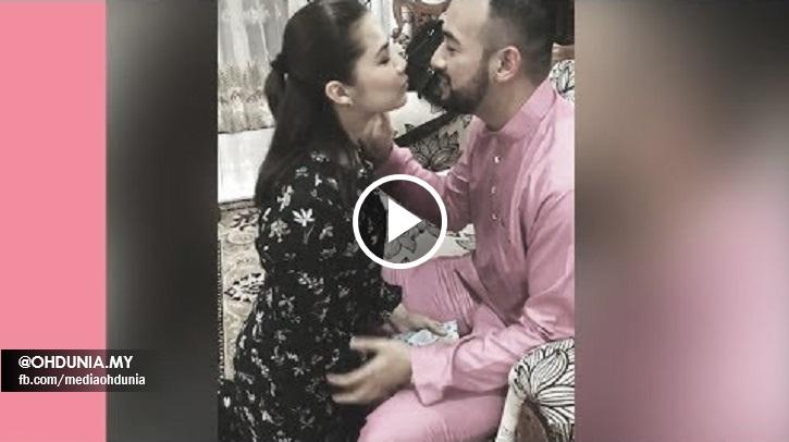 Video Sharnaaz Ahmad Malu-Malu Nak Cium Isteri Di Pagi Raya, Memang Sweet