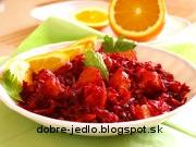 Cviklový šalát s pomarančom - recept