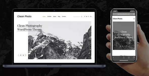 Photography Portfolio WordPress Theme Free Download Clean Photo v1.9.3 – Photography Portfolio WordPress Theme Download