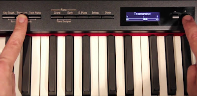 transpose button on the piano