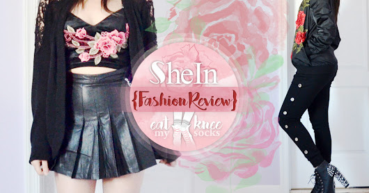 SheIn Fashion Review: Rose Applique Bralette + Bomber Jacket