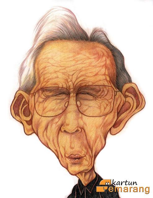 Caricature Rosihan Anwar by Ikhsan Dwiono
