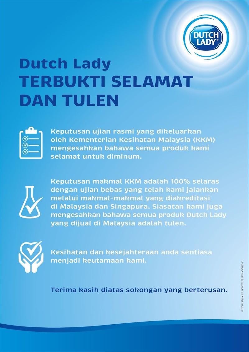 Dutch Lady Terbukti Selamat dan Sahih