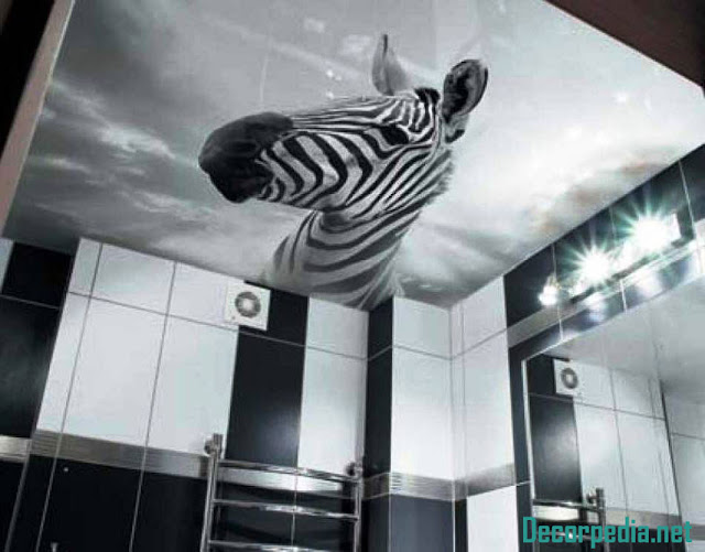 bathroom ceiling designs 2019, 3d photo printing ceiling for bathroom