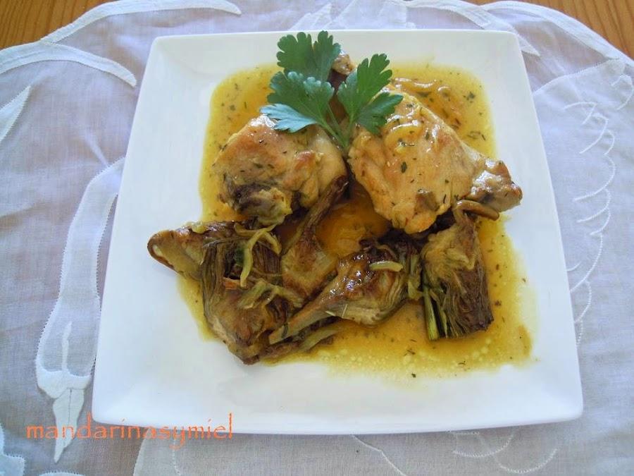 Como Se Cocinan Las Alcachofas   Pollo Con Alcachofas Cocina