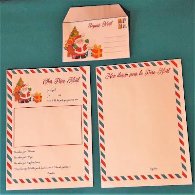 lettre pour le père noel à imprimer liste illustrée enfants kit gratuit