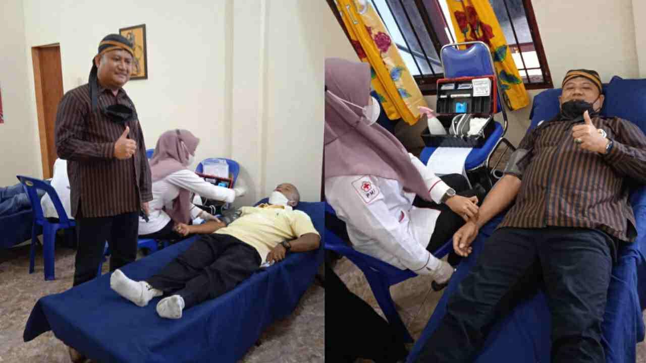 DPD PKB Pujakesuma Asahan Pimpinan Rianto SH MAP Lakukan Donor Darah