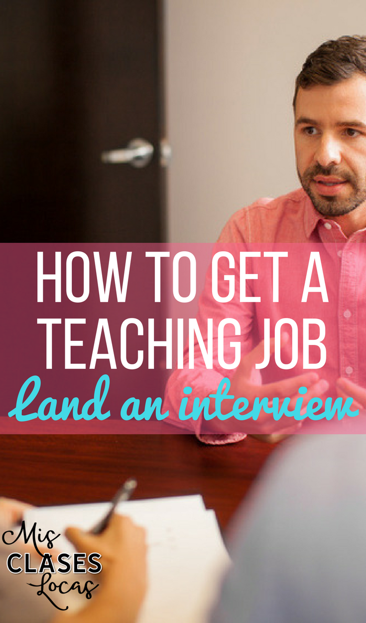 How to get a Teaching Job - Land an Interview