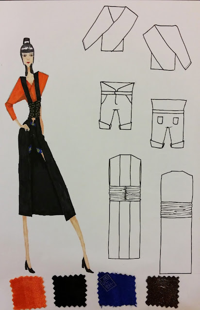 Forth design entry for Fashion Design Competition