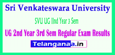 Sri Venkateswara University UG 2nd Year 3rd Sem Regular Exam Results