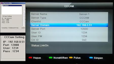 Cara Input CCcam Pada Matrix Sinema HD Untuk Fly