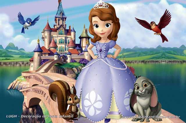Painel decoração tema da Princesa Sofia