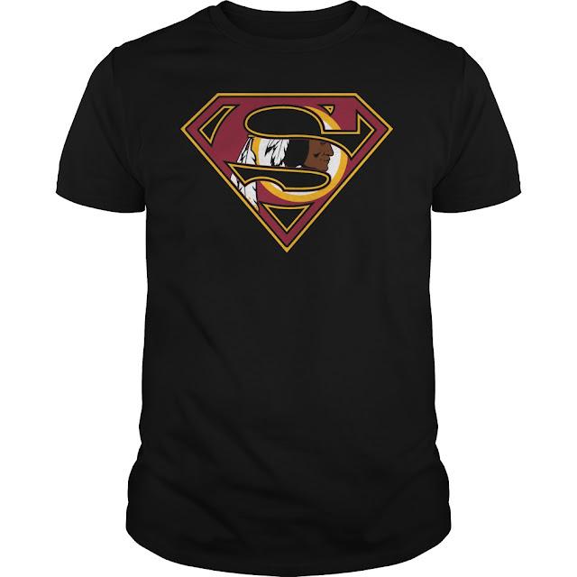 Washington Redskins Superman Logo Shirt