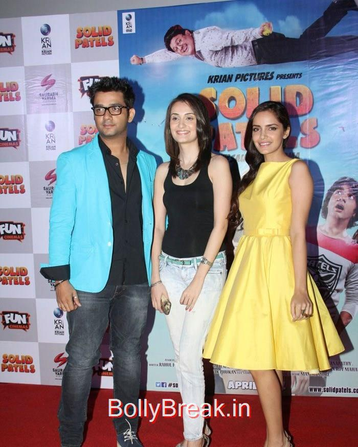 Ketan Singh, Vaishali Desai, Shazahn Padamsee, Vaishali Desai, Shazahn Padamsee hot Pics from 'Solid Patels' Movie Trailer Launch