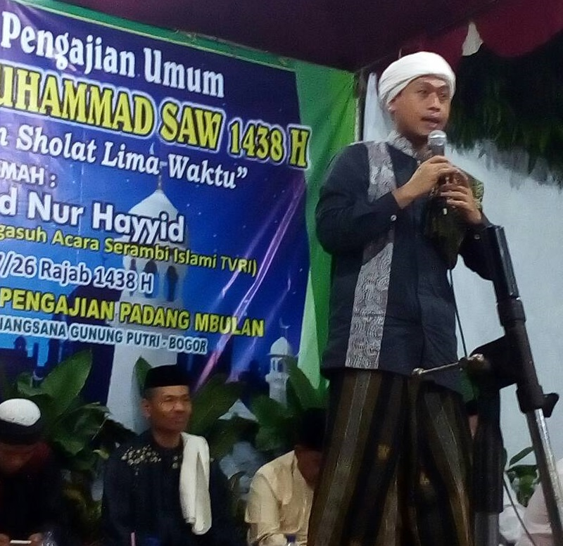 Peringatan Isra' Mi'raj Jamaah Pengajian Padang mBulan Sehatkan Jiwa dengan Sholat Lima Waktu