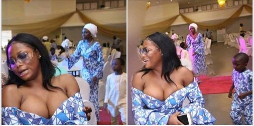 Dressing Or Madness?  See The Way This Lady Dressed To A Wedding Ceremony