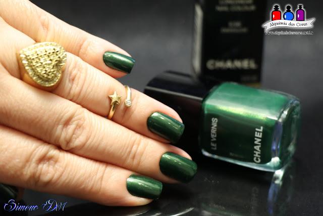 MonyD07, Chanel, 536 Emeraude, verde, Shimmer Dourado,