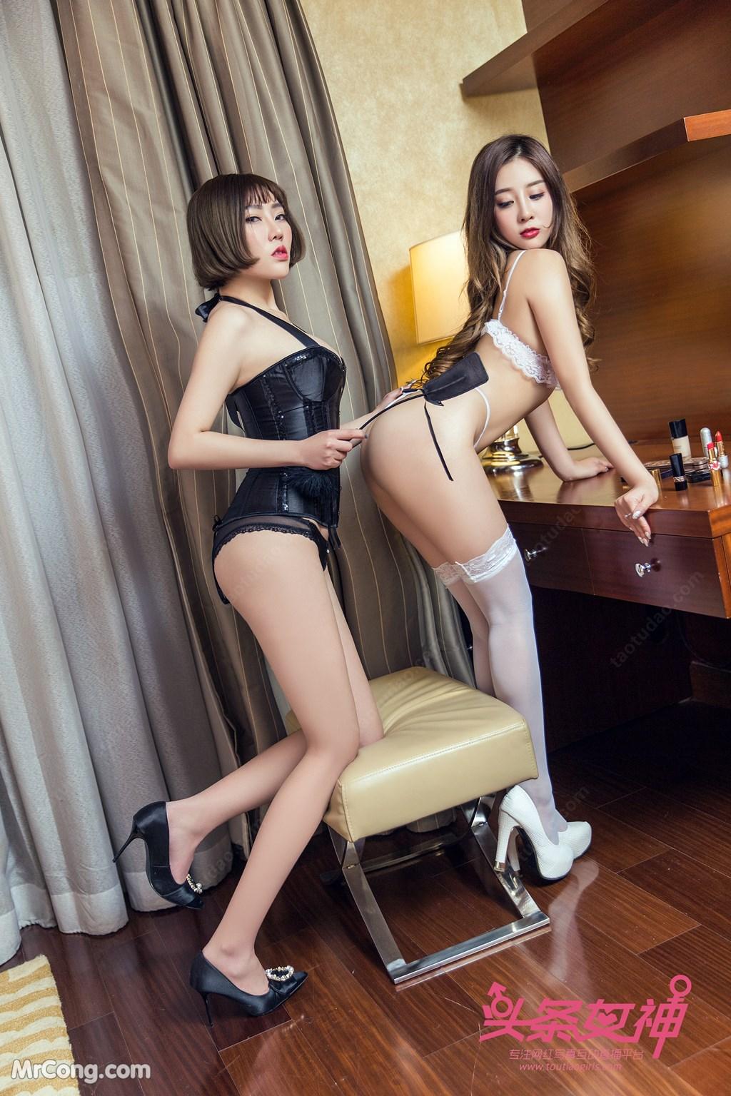 Image TouTiao-2018-03-06-Xiao-Hui-and-Yao-Yao-MrCong.com-003 in post TouTiao 2018-03-06: Người mẫu Xiao Hui (筱慧) & Yao Yao (药药) (34 ảnh)