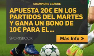 betfair promocion 10 euros champions 2 octubre