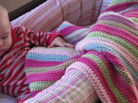 Puerta al sur manta para beb al crochet - Mantas de punto hechas a mano ...