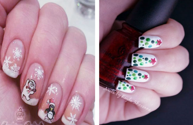 Delightful Combination On Christmas Nails Art