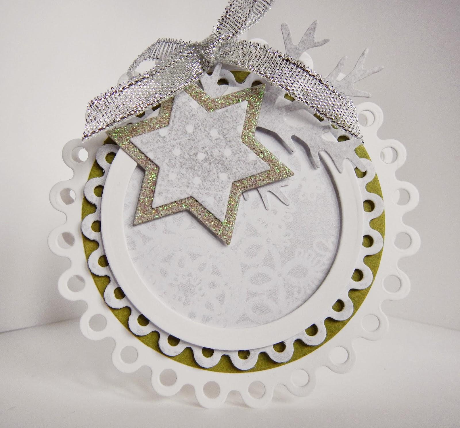 Okrągła, mała kartka świąteczna