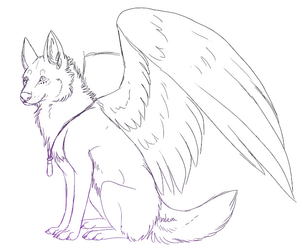 Angel Coloring Pages Realistic  Scary Wolves Colouring Pages