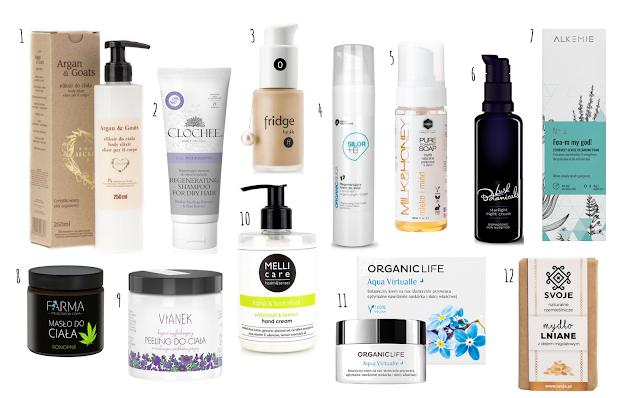 Dwanaście moich ulubionych kosmetyków z 2017 roku