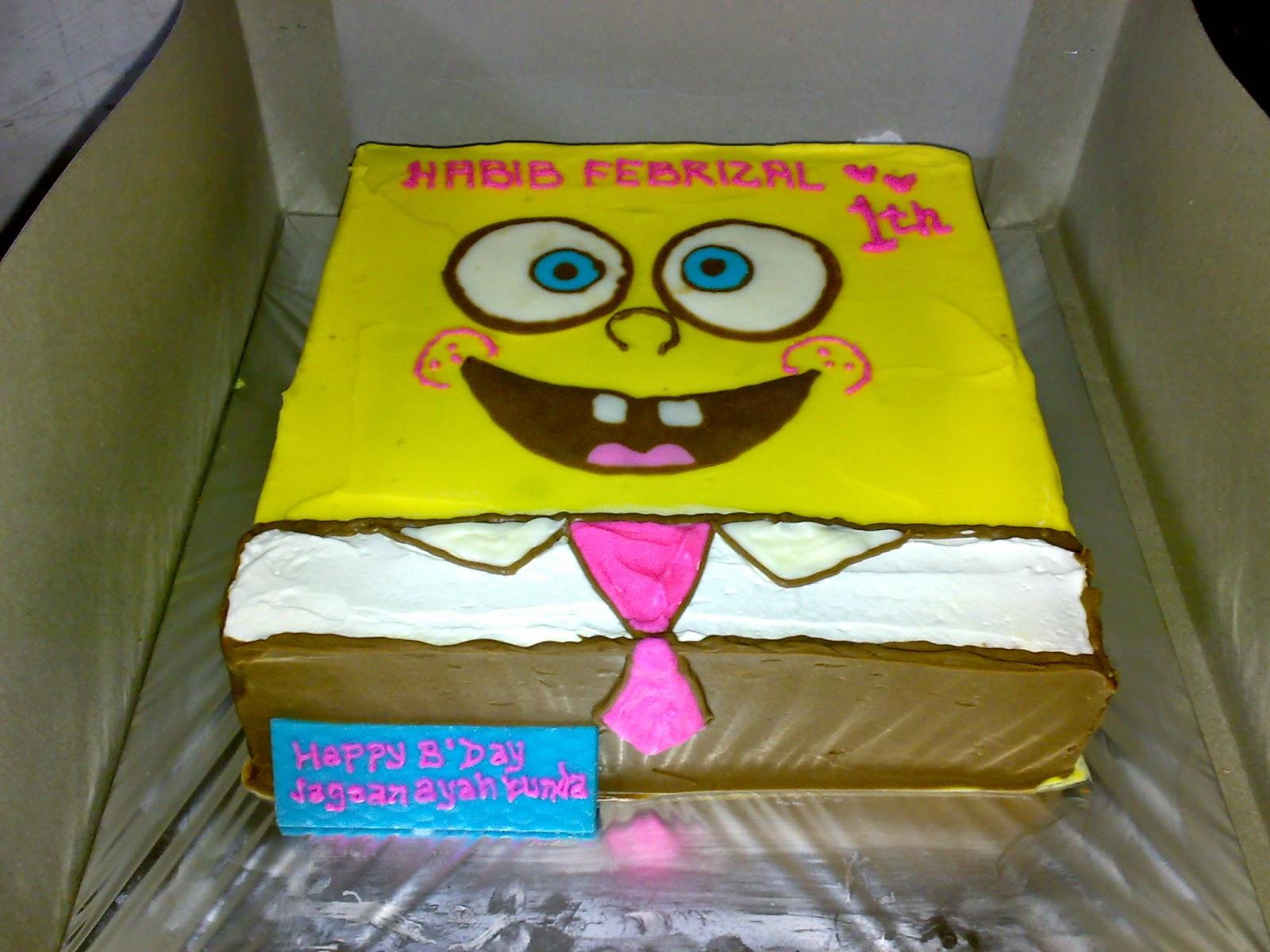 cake sponge bob di toko kue online di padang
