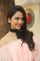 Rakul Preet Singh in lovely Pink Crop Top and Black Trousers at Jaya Janaki Nayaka success meet 011.JPG