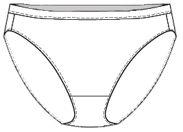 as i said homemade knickers indigorchid underwear 705