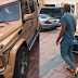 Super Eagles player, Aaron Samuel, shows off his new G-Wagon