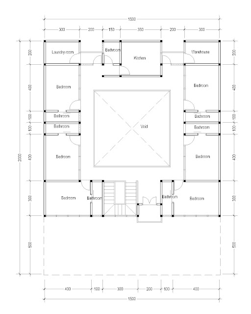 2nd Floor Plan for Plan c-22