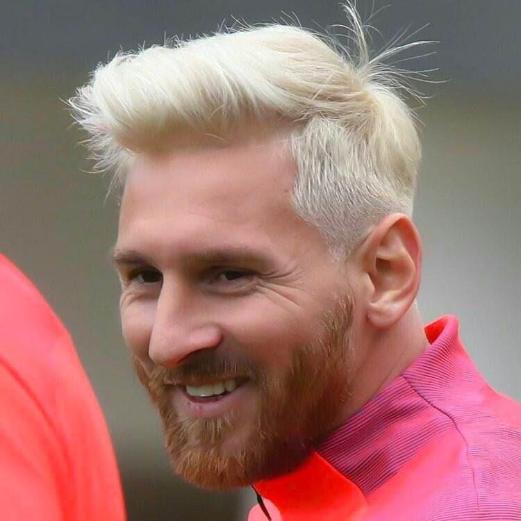 Messi Se Une A La Tendencia Del Rubio Platino Y Su