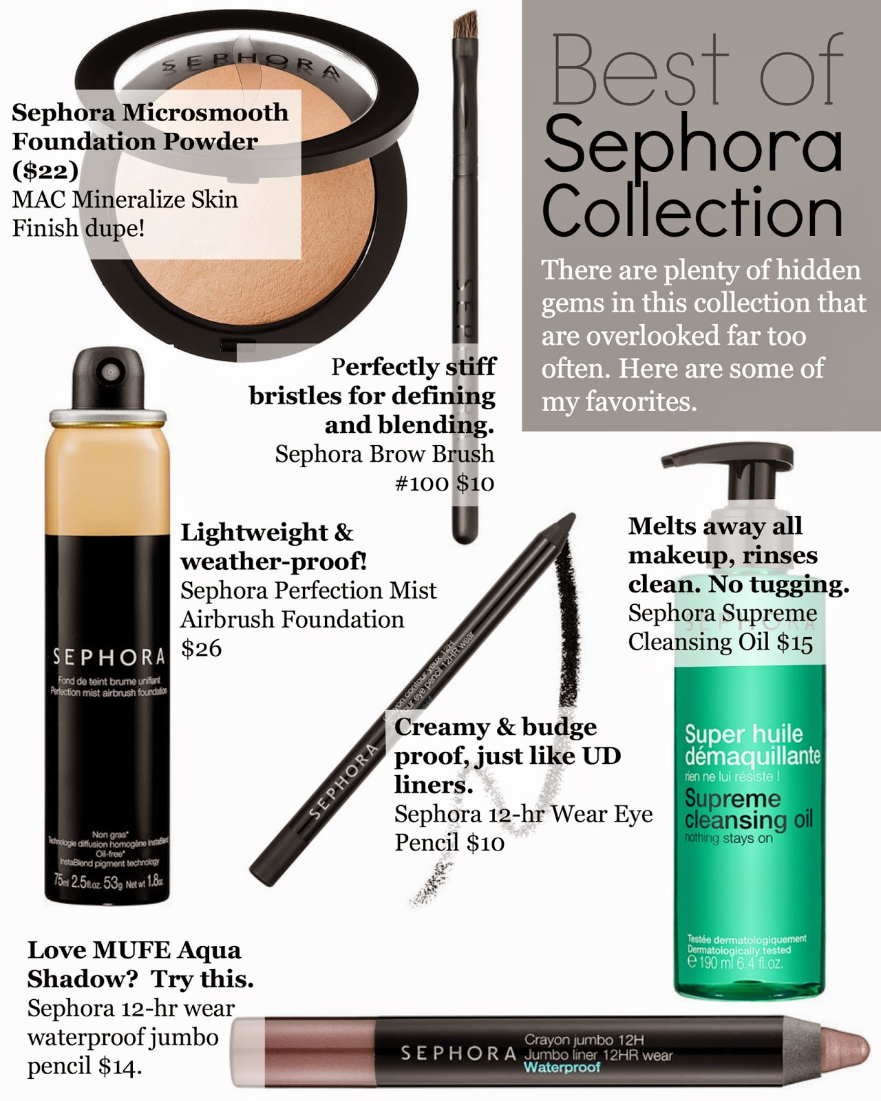 Sephora brand best of, sephora brand favorite products